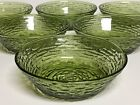 Set of 6 Anchor Hocking Avocado Green Soreno Glass Cereal Bowls 6