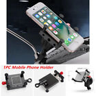 1PC Adjustable CNC Motorcycle Rearview Mirror/Handlebar Mount Cell Phone Holder