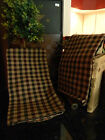 Tan Checked Kitchen Towels PAIR