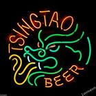 New TSINGTAO BEER Chinese Dragon Hand-made Real Neon Light Bar Sign FAST SHIP