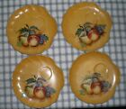 Vintage Hand Painted Fruit Snack Plate Set of 4 Luncheon Plate