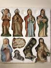 VINTAGE HOMCO CHRISTMAS 9 PIECE HAND PAINTED NATIVITY SET 5216