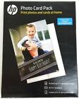 NEW HP Inkjet Printer Glossy Photo Card Picture Paper Pack 887758496787