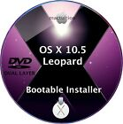 OS X 105 Leopard Bootable DVD DL Clean Installer Upgrade OSX for Apple Mac