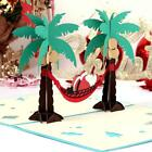 3D Up Card New Years Christmas Invitation Paper Carving Greeting Card Gift New