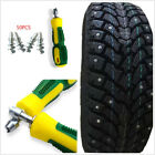 50 Pcs Durable Car SUV Wheel Tyres Tire Snow Chains Spikes Studs+Sleeve Tool Kit