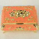 Chinese Exquisite Cloisonne Handmade Carved Rose Flower Jewelry Box @JTL3005`b