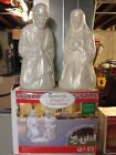 2018 NEW 3 PIECE CHRISTMAS BLOWMOLD PEARL NATIVITY GENERAL FOAM PLASTICS 28in