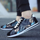 Mens Lace Up Sport Running Low Top Breathable Floral Sneakers Shoes Athletic F2