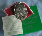 Towle Sterling Silver 1980 Christmas Medallion Ornament 10 Ten Lords A Leaping