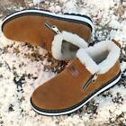 Mens Winter Fur Lined Hiking Shoes Snow Walking Outdoor Casual Sneakers Side Zip