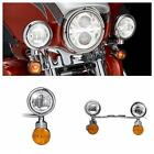 LED Passing Fog Light Bar Turn Signal For Harley-Davidson Softail Fat Boy FLSTF