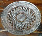 Four Cigarette Ash Tray Anchor Hocking Wexford Diamond Point Crystal Clear Glass
