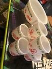 VTG USED Hazel Atlas Tom and Jerry Milk Glass 7PC Punch Bowl Set Christmas