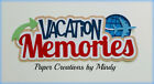 CRAFTECAFE MINDY VACATION MEMORIES TRAVEL premade paper piecing TITLE scrapbook