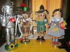 Steinbach Nutcracker Dorothy Tin Man Lion Scarecrow from the Wizard of Oz Series