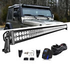 52Inch 300W Led Work Light Bar+Wiring Kit Fit Jeep Wrangler YJ 87 95 54