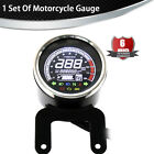 LCD Digital Odometer 12000RPM Tachometer MPH KM/H Gauge TEMP ABS Engine Fault