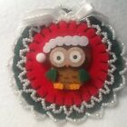 owl Christmas  ornaments red green bird christmas santa hat