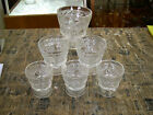 Vintage Libby Glass Set of 6 Sorbet Ice Cream Dishes Summer Diamond Pedestal