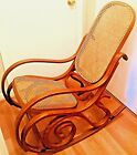 Original 1970s Thonet Style Bentwood Rocking Chair Wooden Cane Rocker Local Sale