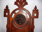 STUNNING ANTIQUE HAND CARVED LION'S HEAD VICTORIAN WALL SHELF 25