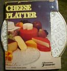 Vintage Jeannette Glass Cheese Platter New Never Used FACTORY PACKAGE
