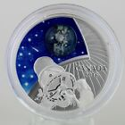 2016 The Universe Glow in the Dark Glass Opal Pure Silver Proof Coin Limited
