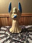 Vintage Union Product Cute 18Angel W Blue Tip Wing Christmas Nativity Blow Mold