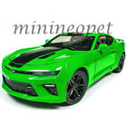 AUTOWORLD AW244 2017 CHEVROLET CAMARO SS 1 18 DIECAST MODEL CAR GREEN