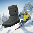 Mens Mid-Top Snow Boots Winter Ski Water Repellent Warm Lined Non-slip Shoes