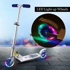 Aluminum Alloy Kick Scooter Adjustable Height 2 Wheels LED Best Gifts For Kids