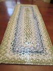 ANTIQUE BRAIDED TABLE TOP MAT RUNNER RUG RECTANGLE