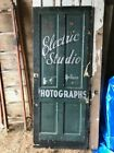 Antique Wooden Door With Advertising