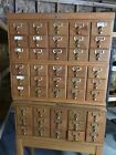Library Bureau File Card Catalog Cabinet 45 Drawers Original Wood Excellent