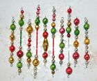 Vintage Mercury Glass Bead Icicle Ornaments Christmas Garland FEATHER Tree
