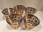 GOLD LOW BALL BARWARE GLASSES  AZTEC