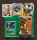 1994 Barry Foster Starting Lineup Figure - Helmet- 4 Cards- Pittsburgh Steelers
