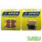 Apico 041 Front & 187 Rear Brake Pads Beta 125 250 300 RR Enduro 10-19 Sintered