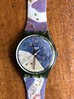 Vintage Swatch Watch Voie Lactee Stars Angels Roman Numerals New Battery (M)