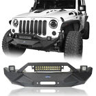 Blade Master Front Bumper w Built in Winch Plate Iron For Jeep Wrangler JK 07 18