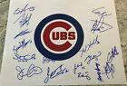 2018 Chicago Cubs Team Signed 11x14 Photo w PROOF ZOBRIST DARVISH SCHWARBER COA