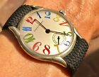 Vintage Girard Perregaux Exaggerated Multicolored Numbers 35mm Case NO RESERVE