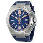 Pre-owned IWC Ingenieur Blue Dial Blue Rubber Automatic PRE-IWC3236-03