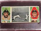1912 T202 Triple Folder card - TY COBB!!! w O'Leary - Fast work at third, PSA 7