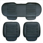 1Pc 3Pcs Leather Car Front  Rear Seat Cover Breathable Pad Mat for Auto Cushion