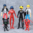 6Pcs Set Miraculous Ladybug Action Figure Tikki Noir Cat Plagg Adrien Toy gift A