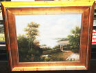 Vintage Oil Painting w/Gold Gilt Ornate Wood Picture Frame Large 33 x 29 Torrens