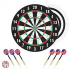 Dart Board Game Home Bedroom Office Double Sided Durability Indoor Plastic New