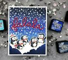 Christmas of little penguins Clear rubber stamps/kids clear stamps and dies for